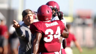 Sights and sounds from South Carolina's Friday football practice