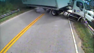 Watch: Dramatic moment as Greenville school bus crashes into tractor-trailer