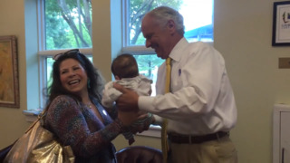 SC Gov. McMaster does what politicians do on Election Day: Kiss a baby - and vote