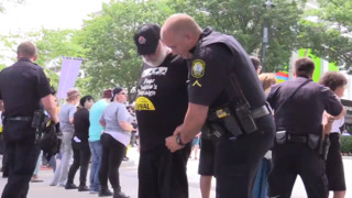 Demonstrators arrested on Main street during Poor People's Campaign march