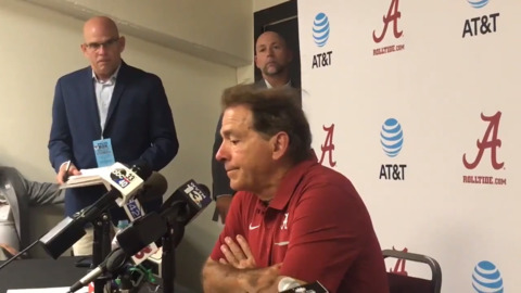 Nick Saban's postgame comments in win over South Carolina