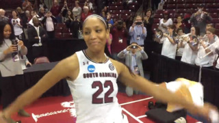 A'ja Wilson dances her way out of the Colonial Life Arena