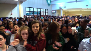 Dutch Fork students emotional during 17-minute walkout against guns