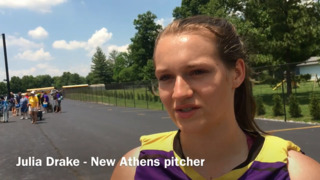 New Athens pitcher Julia Drake reflects on loss to Goreville