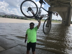 Learn why this man just biked from Highland to Cincinnati