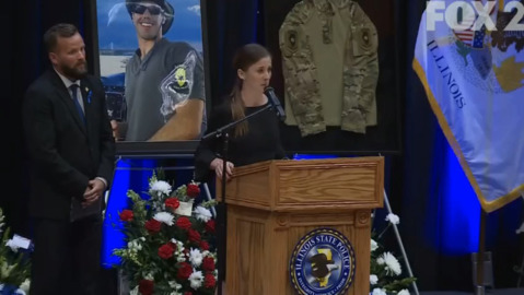 Illinois State Police Trooper Nicholas Hopkins' widow reminds everyone to 'make time'
