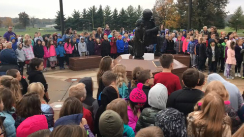 'Oorah:' Hear Columbia elementary school students' tribute to Marines for Veterans Day