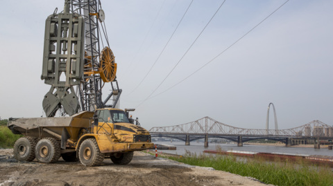 Army Corps building seepage barrier in East St. Louis to reduce risk of levee failure