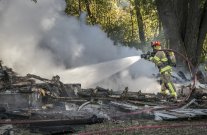 Resident safe after house explodes in Columbia, Illinois