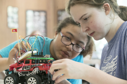 Girl Scouts build moon rover at STEM Camp