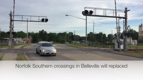 Expect detours in Belleville as multiple railroad crossings will be replaced beginning Wednesday