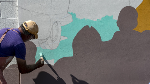 The 2021 Belleville, Illinois mural project has started, September 24-26
