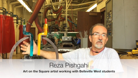 Belleville West students create sculpture designed to encourage peaceful conversation