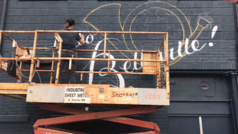 New mural painted on downtown Belleville business