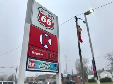 Gas drops below $2 in west Belleville. But don't expect it to last long.