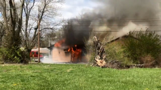 Crews fight structure fire in Centreville