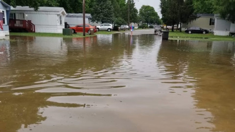 Heavy downpour dumps inch and a half of rain on O'Fallon, flooding roadways