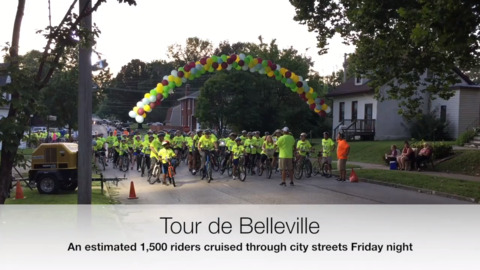 Tour de Belleville riders fill city streets in nighttime cruise