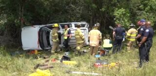 First responders help woman in rollover crash on interstate in Harrison County