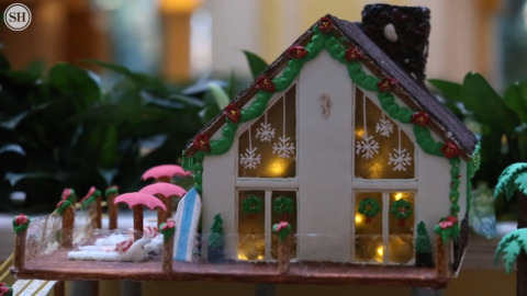 Gingerbread houses at Beau Rivage takes Christmas to the beach