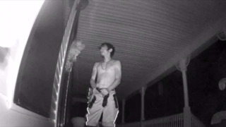 Armed, shirtless man attempts break-in at Lucedale home, video shows