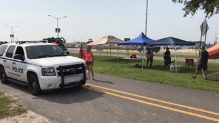 Biloxi police clear people, tents from north of 90