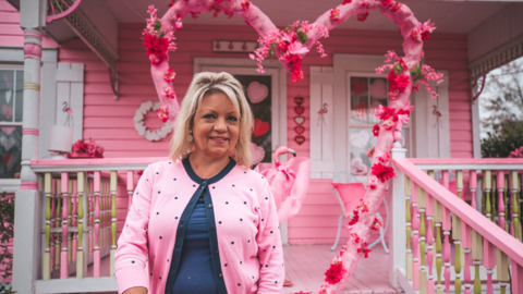 Long Beach woman 'goes all out' with Valentine's Day decorations