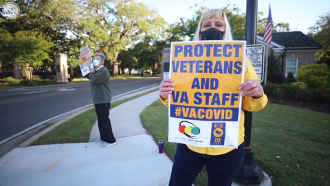 'We are not protected.' Biloxi VA workers protest for additional PPE, hazard pay