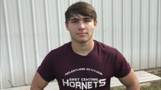 East Central's Dylan Grinsteinner is ready to join the fray