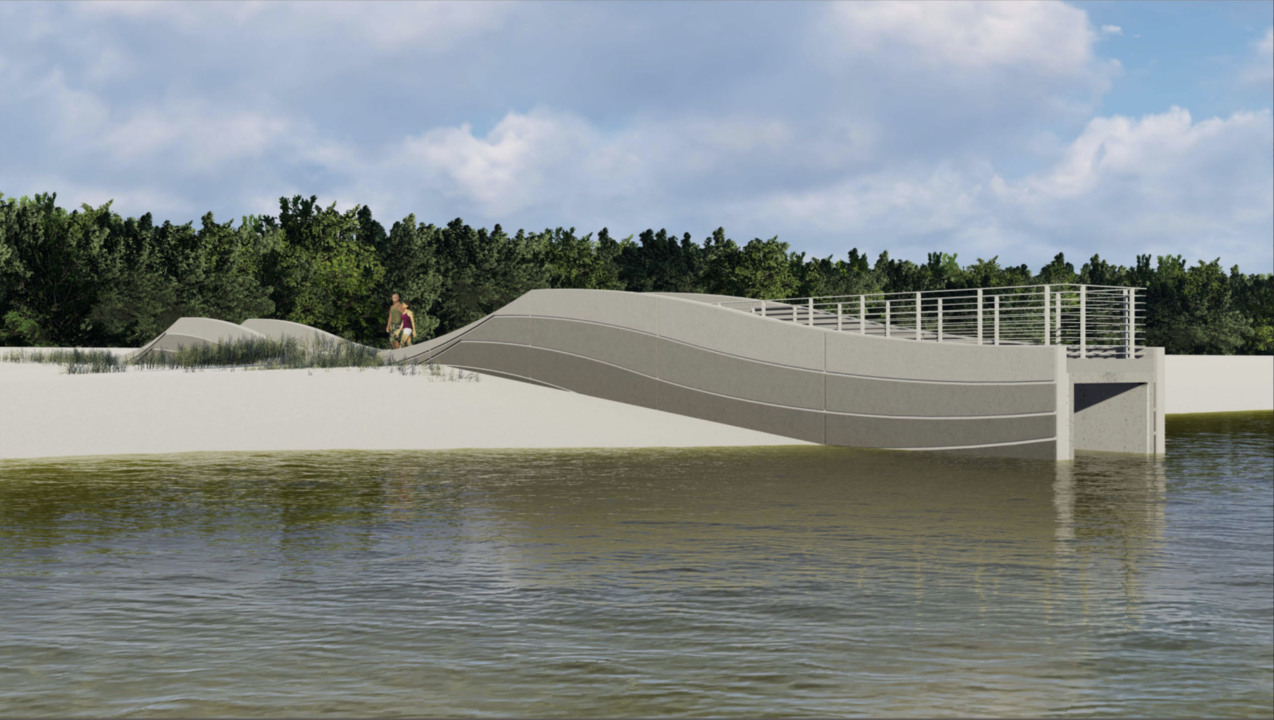 New Wave Shaped Drains Coming To Mississippi Coast Beaches