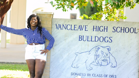She's the second black valedictorian in Vancleave High's history