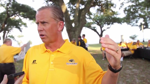 Todd Monken talks about his Southern Miss team before the 2015 season