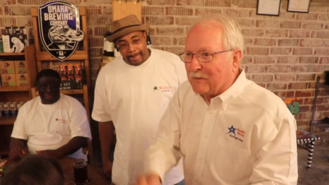 Perry mayoral candidate greets supporters after early voting numbers released