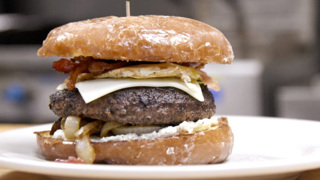 Breakfast, lunch and sweet tooth all satisfied with this burger creation
