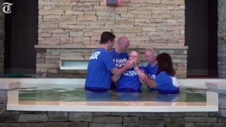 88-year-old hospice patient baptized