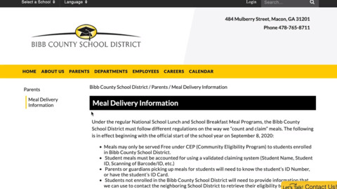 Need lunch for your child? Bibb County is feeding students during virtual learning