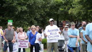 Anti-abortion rally protests women's clinic approved for Walnut Street