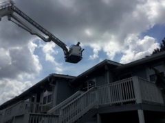 Lightning strike probable cause of Warner Robins apartment fire