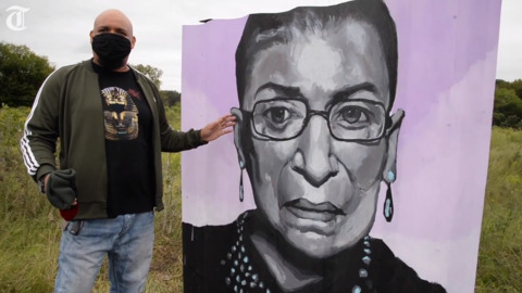 Here's what inspires this artist who painted the RBG mural in Macon