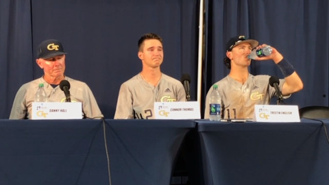 Ga. Tech pitcher emotionally recalls final play that won Auburn Saturday night's game