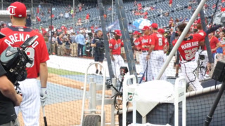Nick Markakis takes batting practice before first All-Star Game appearance