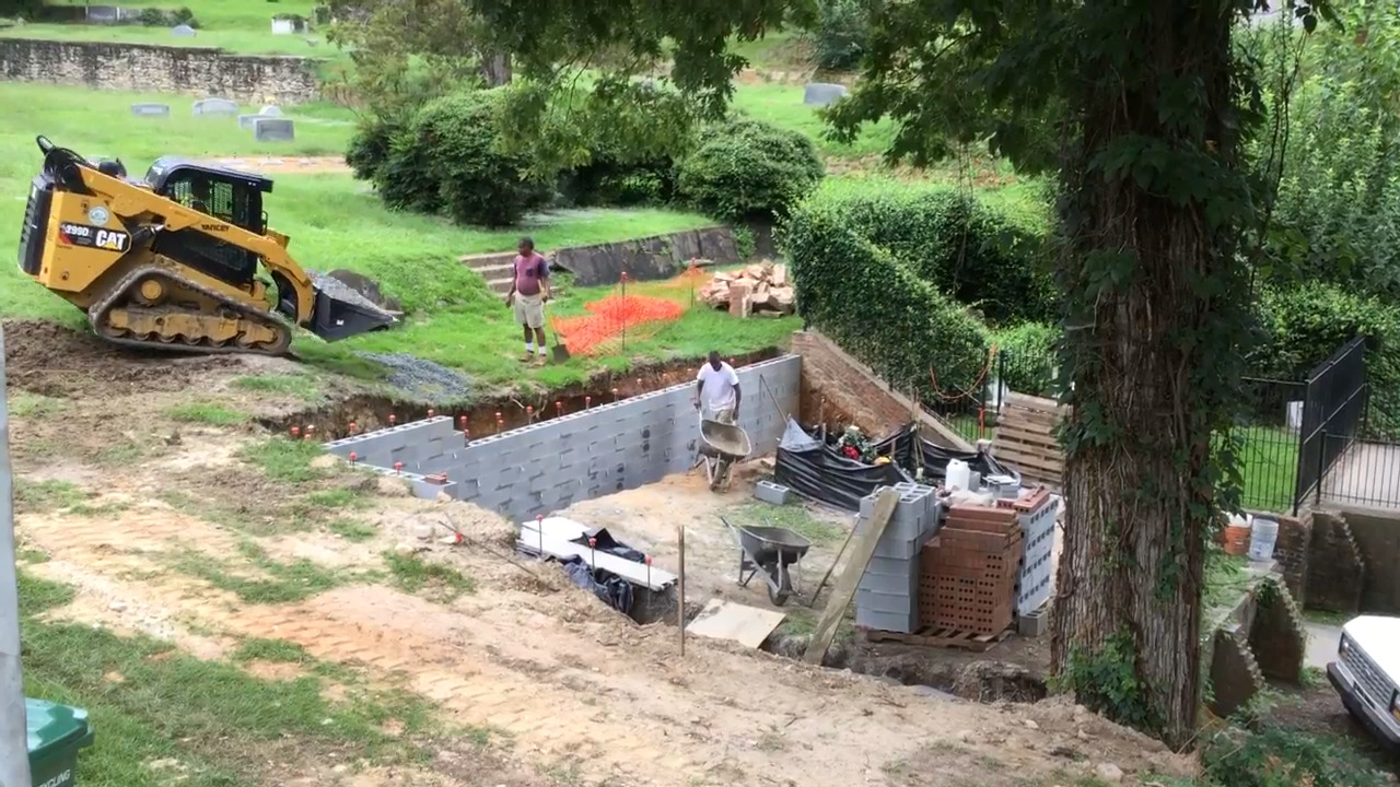 Gregg Allman grave work at Rose Hill Cemetery Macon | The State