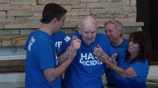 He 'put God on the back burner' for decades. Then was baptized at 88 years old