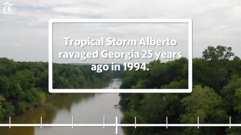 Timeline of 1994 flood in Macon, Middle Georgia from Alberto