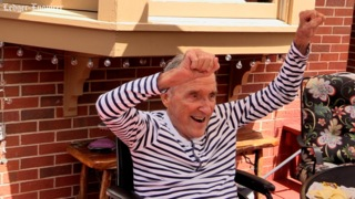 Alzheimer's didn't stop this veteran of three wars from celebrating his 92nd birthday in style