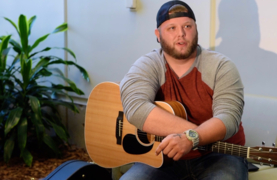 Local musician honors his mother by sharing music with patients fighting the disease that took her life