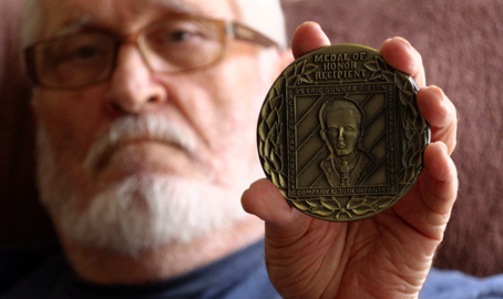 Columbus man hopes to get unique coin to Medal of Honor recipient's family
