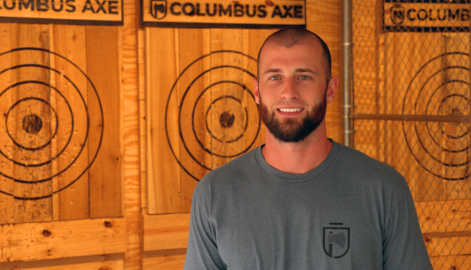'It's exciting': New axe throwing business now open in downtown Columbus