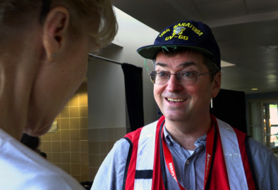 Red Cross volunteers, with local support, bring 'order out of chaos' to hurricane shelter