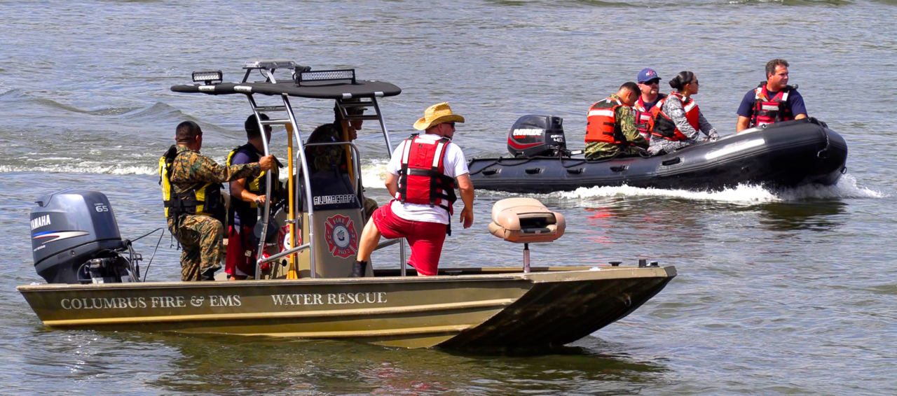 Multi Agency Rescue Drill Conducted On Chattahoochee River